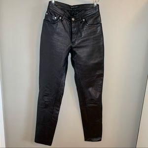 HELMUT LANG Black Leather Pants